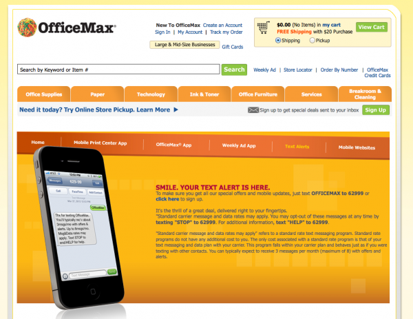 office max sms marketing