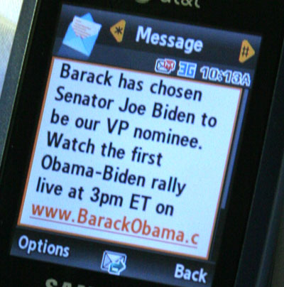 SMS Marketing With Obama