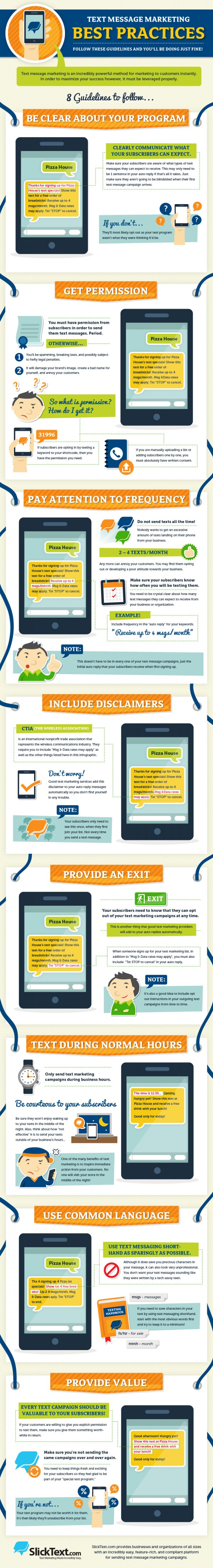 Text Message Marketing Best Practices Infographic
