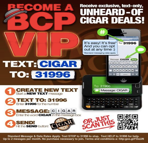 Best Cigar Prices Text Message Marketing Case Study