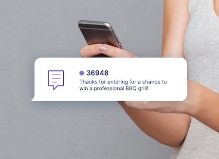 Text to win sweepstakes opt in example